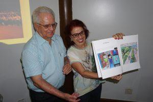 Sebastião e Delva Almeida felizes com a surpresa!