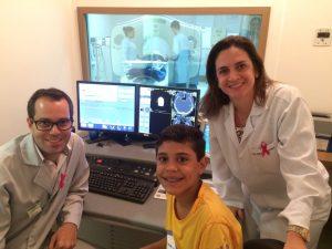Kauãh acompanhou a realização de vários exames por imagem na Multiscan, graças à a Dra. Maria Ângela.