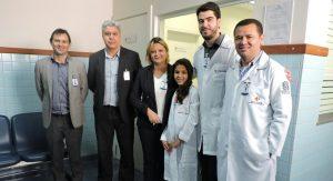 Valeska sonha em ser médica e passou um dia no Hospital Estadual de Urgência e Emergência.