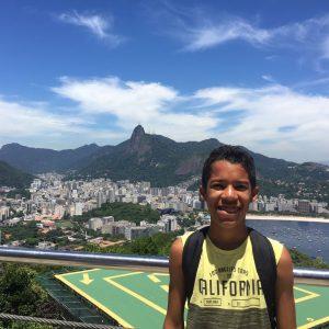 Wagner realizou seu desejo de ir a uma feira de Robótica e ainda conheceu vários pontos turísticos do Rio de Janeiro.